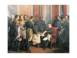 Napoleon Signing His Abdication at Fontainebleau, April 4, 1814 Giclee Print by Francois Clouet