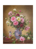 Romantic Roses of Yesteryear Giclee Print by Albert Williams