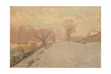 Road by the Seine at Neuilly in Winter, C.1888 Impression giclée par Alberto Pasini