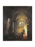 Inside the Monastery Giclee Print by Giovanni Migliara
