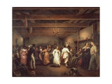 Kitchen Ball at White Sulphur Springs in Virginia, 1838 Giclee Print by Christophe Huet