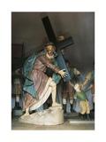 Christ Bearing Cross, 1800-1805 Giclée-tryk af Alessandro Algardi