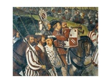 Departure of King Christian of Denmark from Malpaga Castle Accompanied by Bartolomeo Colleoni Giclee Print by Marcello Fogolino