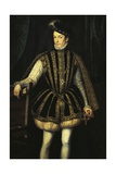 Portrait of Charles IX of Valois, King of France Giclee Print by Francois Clouet
