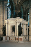 Tomb of Henry II and Catherine De' Medici in St. Denis Abbey Fotografisk tryk af Francesco Primaticcio