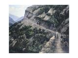 Travelers Giclée-Druck von Jose Maria Velasco