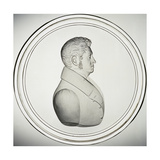 Glass Medallion with Portrait Giclee Print by Donat Nonotte