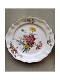 Dish with Floral Motifs, Ceramic, Strasbourg Manufacture, France Giclee Print by Joseph Harold Swanwick