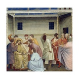 Flagellation of Christ, Detail from Life and Passion of Christ, 1303-1305 Giclee Print by  Giotto