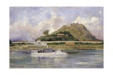 French Gunboat in Front of Tuyen Quan Giclee Print by Lyubov Sergeevna Popova