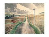 Wiltshire Landscape Giclee Print by Eric Ravilious