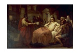 Alexander the Great and His Physician Philip, 1839 Giclee Print by Domenico Induno
