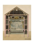 Cross Section of Theatre Stage, 1781 Giclee Print by Claudio Linati