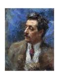Portrait of Giacomo Puccini, 1906 Giclée-tryk af Auguste Macke