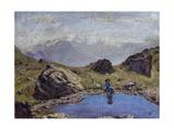 Mountain Landscape Giclee Print by Michelino Da Besozzo