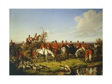 Fox Hunt, 1850 Giclee Print by Filippo Palizzi