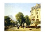 France, Paris, Boulevard Des Capucines at Corner of Rue De La Paix, 1823 Giclee Print by Constantin Alajalov