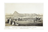 Reconstruction of Procession of the Bull of Nimrud Giclee Print by Baldassare Longhena