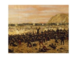 Battle of Miraflores, Peruvian Soldiers Defending Lima from the Advance of the Chilean Army Giclee Print by Juan Manuel Blanes