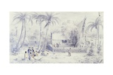 Polynesia, Scene of Everyday Life in Marquesas Islands Giclee Print by Michael Chase