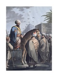 Arab Sheikh in a Village, 1802 Giclee Print by Luigi Mayer