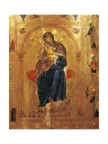 Virgin with Child, Plate from a Byzantine Manuscript Giclee Print by Thomas Cooper Gotch
