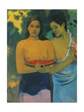 Two Tahitian Women, 1899 Stampa giclée di Paul Gauguin