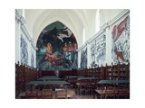 Gabino Ortiz Library Room with Frescoes by Clemente Orozco, 1940 Giclee Print by Joan Blaeu