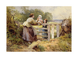 The Stile Giclee Print by Myles Birket Foster