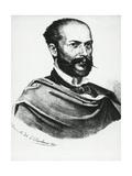 Portrait of Italian Poet, Arnaldo Fusinato Giclee Print by Tommaso Masaccio