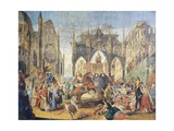 Arrival of Federico II in Jesi, Teatro Comunale Pergolesi Giclee Print by Luigi Mayer