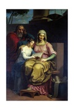 The Virgin with Saints Anne and Joachim, 1840 Giclee Print by Peter Jackson