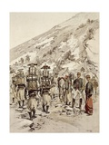 French Troops on the March, 1886 Giclee Print by Jean Baptiste Lallemand