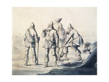 Swedes Who Work the Land, Sweden 17th Century Giclée-tryk af Lorenzo Monaco