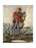 Austria, Satire Depicting Revolutionary at Barricades of Leopoldstadt During 1848 Revolution Giclee Print by Johann Franz Rousseau