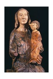 Madonna and Child, Wooden Statue, Orvietana School Giclee Print by Nicola Grassi