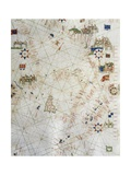 Detail of Map of Italy from Marine Chart of Mediterranean, 1571 Giclee Print by Matteo Rosselli
