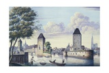 The Bridges of Strasbourg, 1830 Giclee Print by L. Urgelles