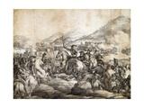 Battle of Chacabuco, February 1817, Which Decreed Victory of Jose De San Martin over Spanish Giclee Print by Thomas Collier