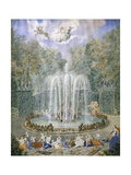 France, Versailles, Fountain in Gardens Giclee Print by Jean Antoine Simeon Fort