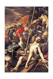 Christ Being Nailed to the Cross, 1577 Giclee Print by Vincenzo Coronelli