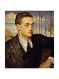 Portrait of Henry De Montherlant, 1923 Giclee Print by Jacques-Laurent Agasse