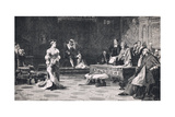 The Trial of Queen Catherine 1528 Giclee Print by Lattanzio Querena