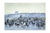 The Boer General De Wet with His Command, 1900 Giclee Print by John Burnet