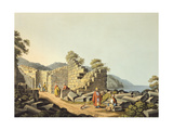 Greece, Samos Island, Ruins of Ancient Temple, 1805 Giclee Print by Luigi Mayer