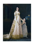 Portrait of Julie Clary with Her Daughter Zenaide Clary Giclee Print by Robert Tyndall