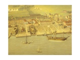 The Royal Dockyard at Woolwich, Near London, 1790 Giclee Print by Nicholas Pocock