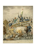 Austria, Satire Depicting Barricades at Vienna During 1848 Revolution Giclee Print by Henry Fuseli