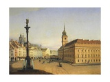 The Old Square in Warsaw, Poland 19th Century Giclee Print by Jan van Grevenbroeck
