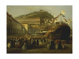 Inauguration of Refitted Dock in Naples, 1854 Giclee Print by Paul Brill